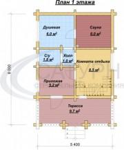 Проект Комфорт-2 - План 1 этажа